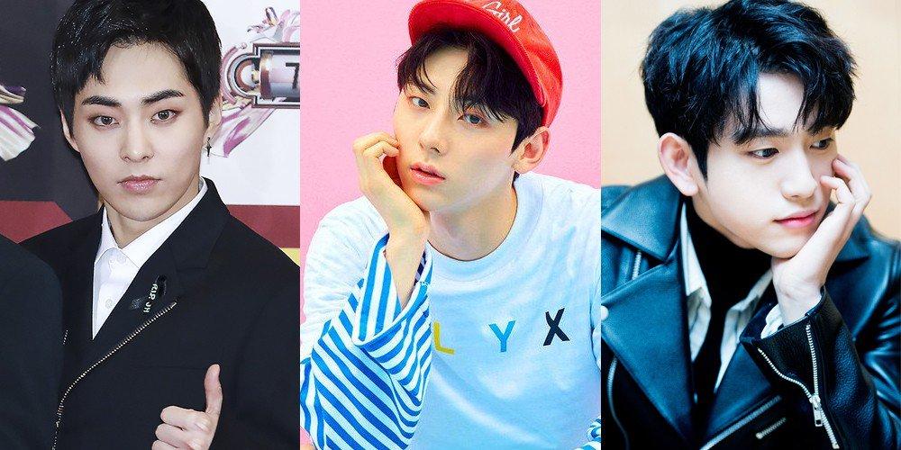 Jinyoung-EXO-Xiumin-Minhyun-got7-wanna-one-hwang-min-hyun